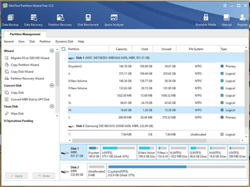 MiniTool -partitionsguiden Free 1